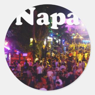 Ayia Napa Classic Round Sticker