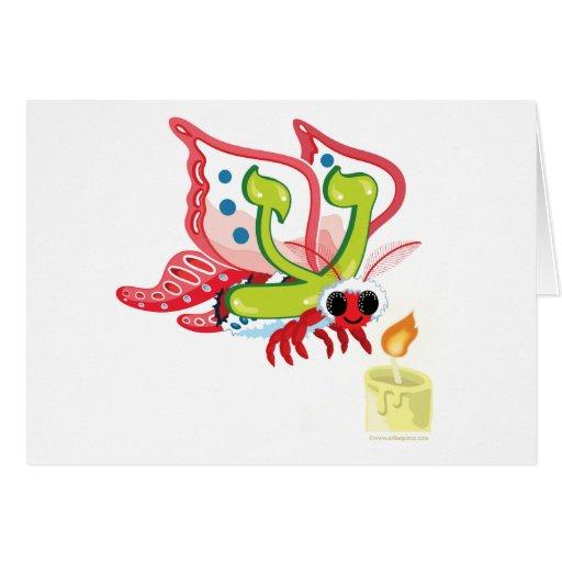Ayin Hebrew Aleph Bet (Alphabet) Moth Card