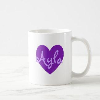 Ayla en púrpura tazas de café