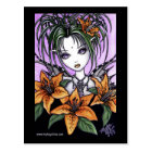 """""""Ayla"""" Gothic Tiger Lilly Fairy Postcard"""