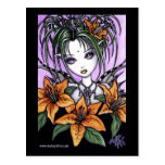 """Ayla"" Gothic Tiger Lilly Fairy Postcard"