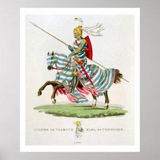 ¿Aylmer de Valence, conde del Pembroke (1265? - 13 Impresiones