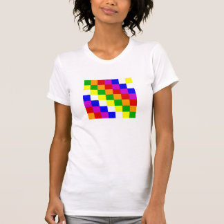 Aymara people ethnic flag color square T-Shirt