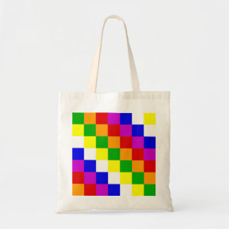 Aymara people ethnic flag color square tote bag