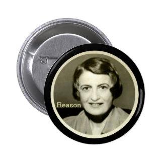 Ayn Rand 2 Inch Round Button