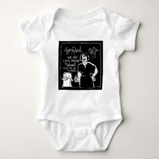 Ayn Rand and Her Chain Smokin' Weasel! Baby Bodysuit