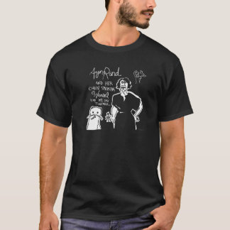 Ayn Rand and Her Chain Smokin' Weasel! Men's Tee
