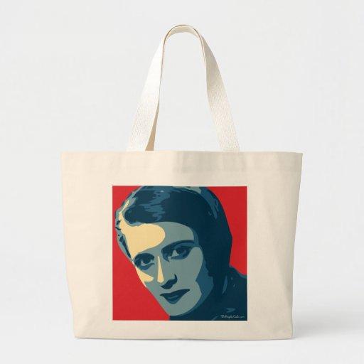 Ayn Rand - encogido: Bolso de OHP Bolsa Tela Grande