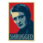 Ayn Rand - encogido: Poster de OHP