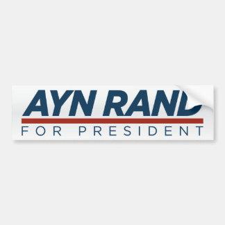 Ayn Rand for President Bumper Sticker Car Bumper Sticker