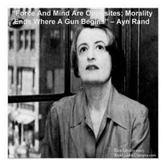 Ayn Rand Graphic Famous Quote Poster Poster