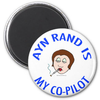 ayn rand is my co-pilot objectivism magnet