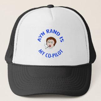 ayn rand is my co-pilot objectivism trucker hat