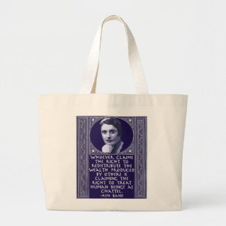Ayn Rand on Redistribution of Wealth Canvas Bag