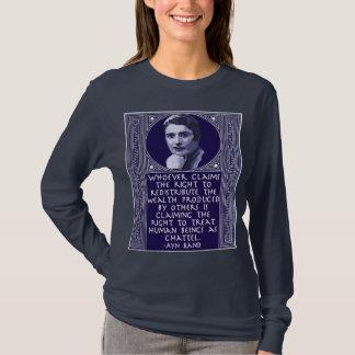 Ayn Rand on Redistribution of Wealth T-Shirt
