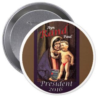 Ayn Rand Paul Pin Redondo 10 Cm