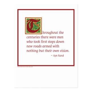 Ayn Rand Postcard