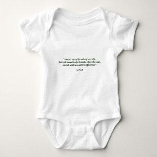 Ayn Rand Quote Baby Bodysuit