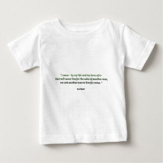 Ayn Rand Quote Baby T-Shirt