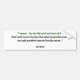 Ayn Rand Quote Car Bumper Sticker