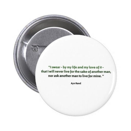 Ayn Rand Quote Pinback Buttons