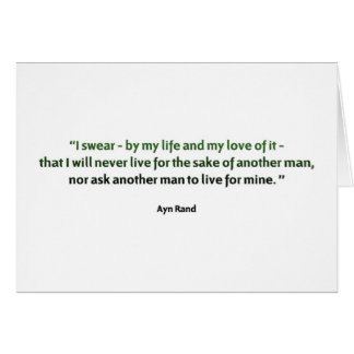 Ayn Rand Quote Card