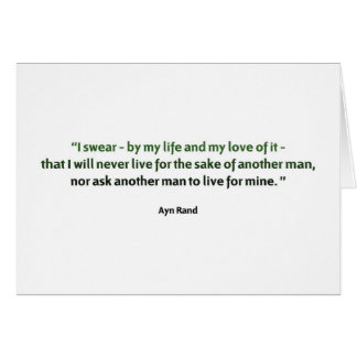 Ayn Rand Quote Greeting Card