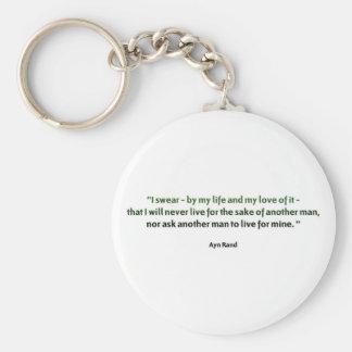 Ayn Rand Quote Keychain