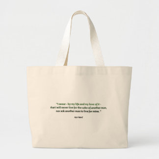 Ayn Rand Quote Large Tote Bag