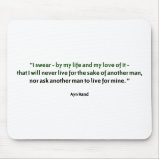 Ayn Rand Quote Mouse Mats
