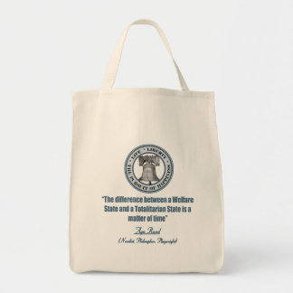 Ayn Rand Quote on Welfare Tote Bag