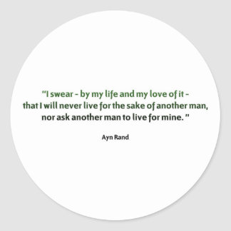 Ayn Rand Quote Stickers