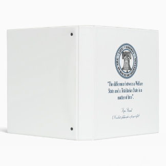 Ayn Rand Quote (Totalitarianism) 3 Ring Binder