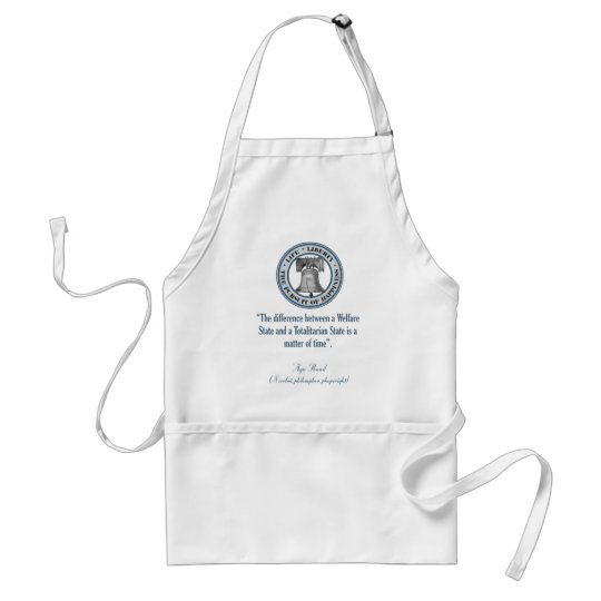 Ayn Rand Quote (Totalitarianism) Adult Apron