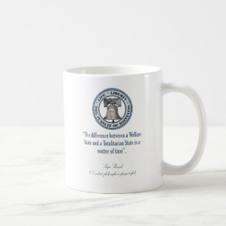 Ayn Rand Quote (Totalitarianism) Coffee Mug