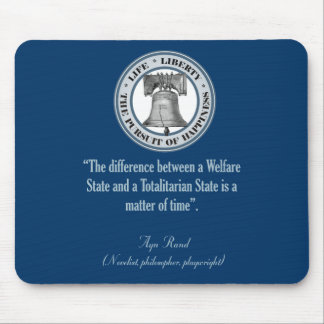 Ayn Rand Quote (Totalitarianism) Mouse Pad
