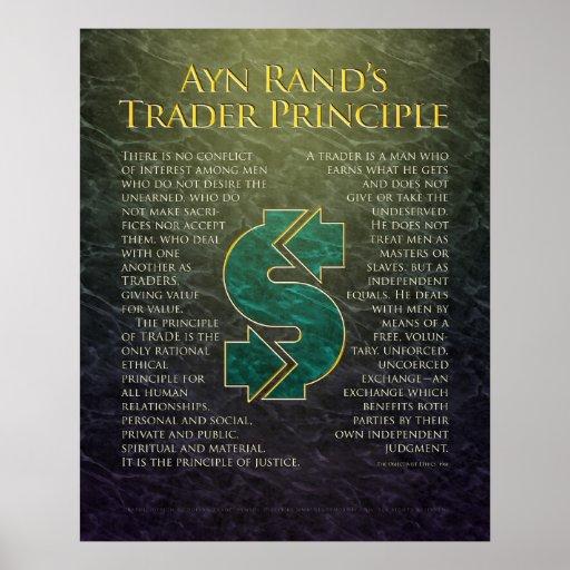 """Ayn Rand's """"Trader Principle"""" Posters"""