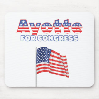 Ayotte for Congress Patriotic American Flag Mouse Pad