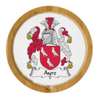 Ayre Family Crest Round Cheeseboard