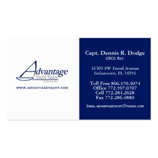 AYS Prof DD 2 Color Navy White w/ Website Double-Sided Standard Business Cards (Pack Of 100)