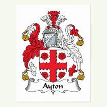 Ayton Family Crest Postcard