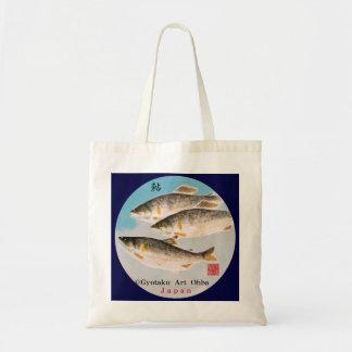 ayu ayu. japan art gyotaku < Hokkaido > Porthole s Budget Tote Bag