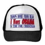 Ayuda 2012 de la elección de Obama Gorros Bordados