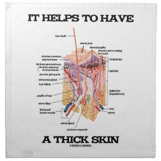 Ayuda a tener una piel gruesa (el humor de la servilleta imprimida