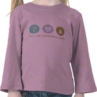 Ayuda administrativa del amor de la fe camisetas