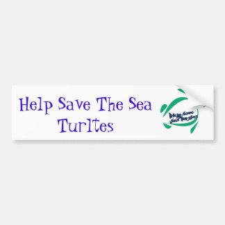 Ayuda ahorrar el mar Turltes Etiqueta De Parachoque