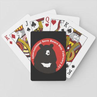 Ayuda ahorrar el oso de la luna baraja de cartas