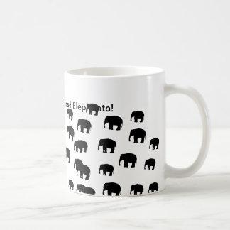Ayuda ahorrar elefantes en peligro taza clásica