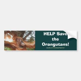 Ayuda ahorrar la serie de la pegatina para el para pegatina de parachoque