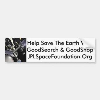 Ayuda ahorrar la tierra pegatina de parachoque